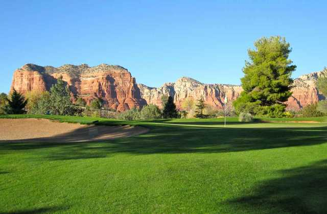 A view of a green at Canyon Mesa Country Club