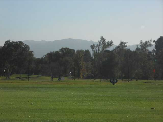 A view of the driving range at Vista Valencia Golf Course