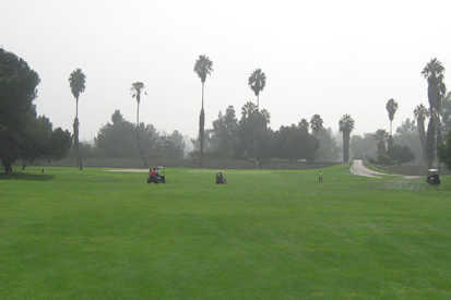 A view of a fairway at Whittier Narrows Golf Course (Parks LA County)