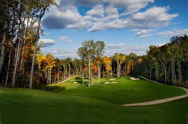 A view of a fairway at Potomac Shores Golf Course