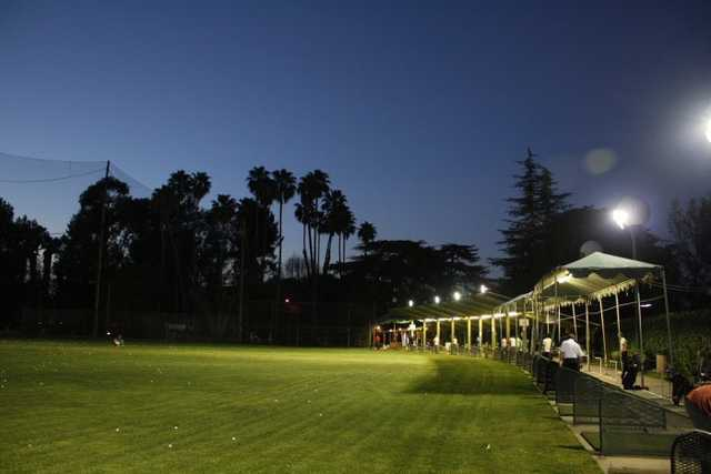 An evening view of the driving range at Weddington Golf and Tennis