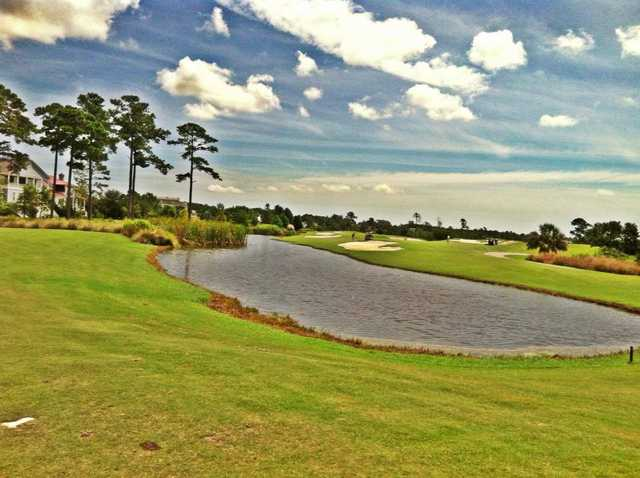 A view over the water from RiverTowne Country Club