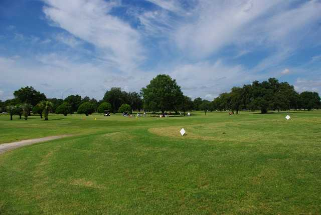 A view of a tee at Bartow Golf Course