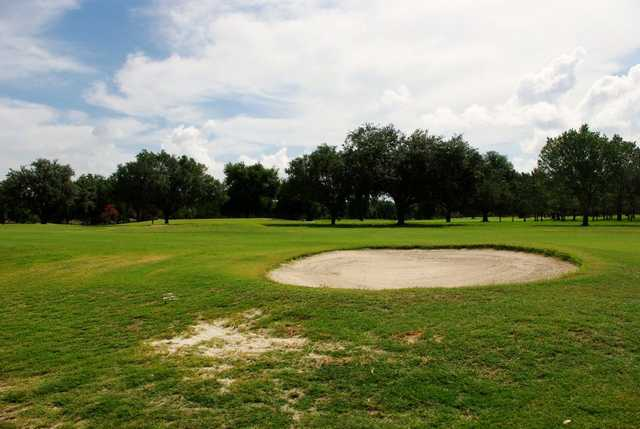 A view of a fairway from Bartow Golf Course