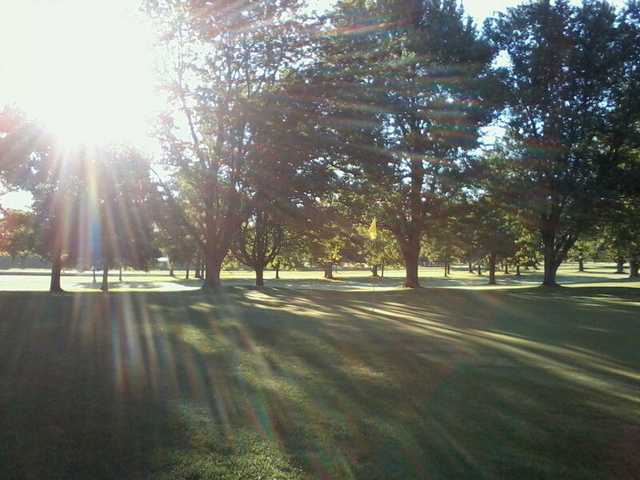 A sunny day view from Shelby Country Club