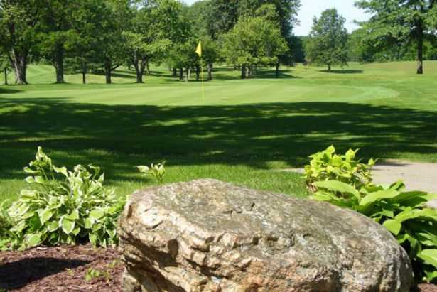 A view of a hole at Shelby Country Club