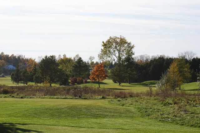 A fall view from Wolf Run Golf Club