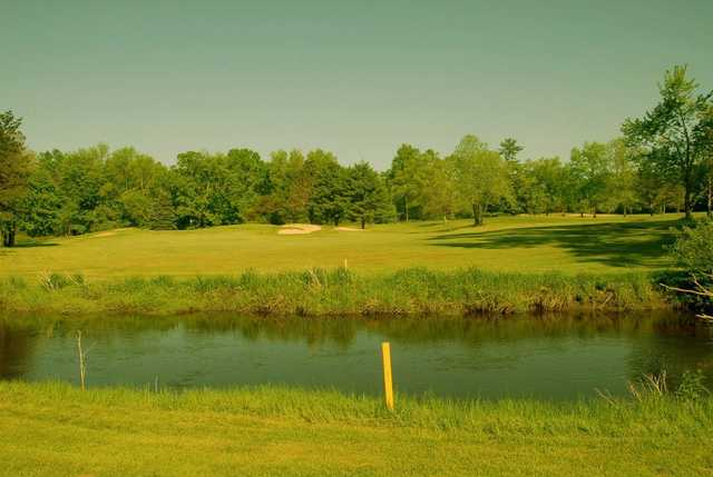 A view over the water from Hickory Ridge Golf Club