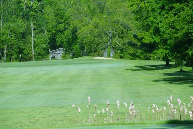 A view of a fairway at Hickory Ridge Golf Club