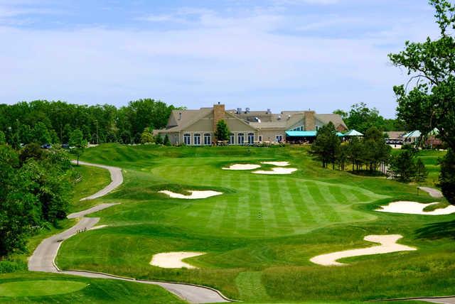 A view of a fairway at Eagle Ridge Golf Club.