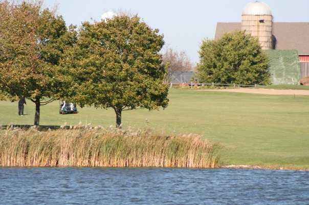 A view over the water from Redtail Golf Club