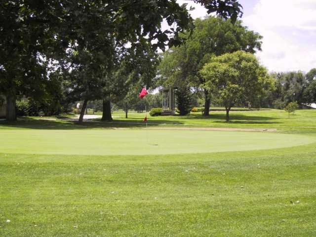 A view of a green at Carey Park Golf Course