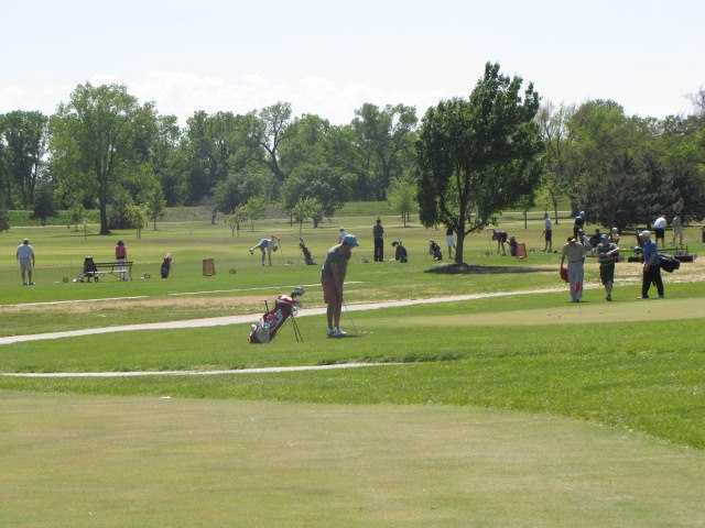 A view of the practice area at Carey Park Golf Course