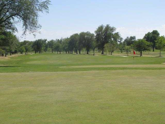 A view of a hole and a fairway at Carey Park Golf Course