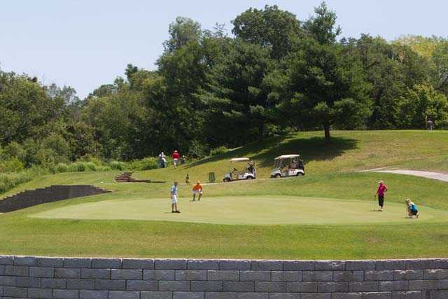 A sunny day view from Indian Bluff Golf Course