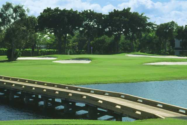 A view over a bridge at West Course from Bonaventure Country Club
