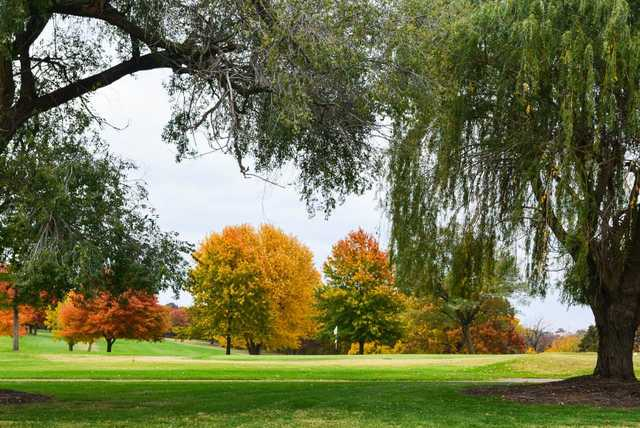 A fall view from Dogwood Hills Golf Resort