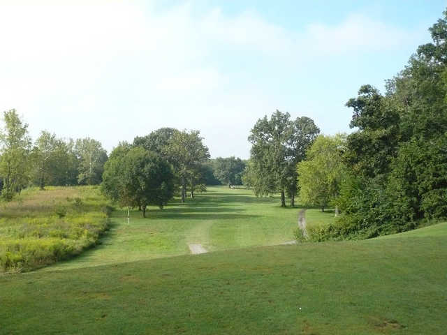 A view of a fairway at Grandview Golf Course