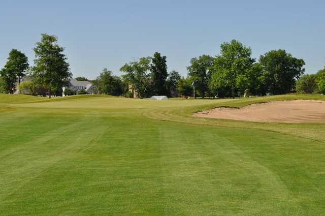 A view from a fairway at Hawk's Tail of Greenfield