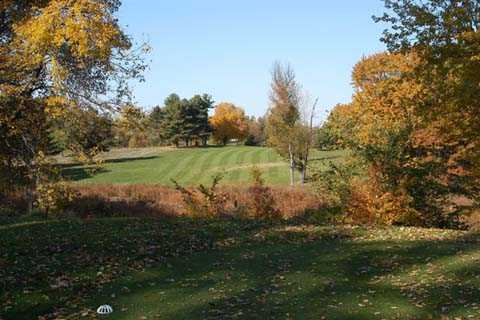 A fall view from tee #18 at Plymouth Country Club