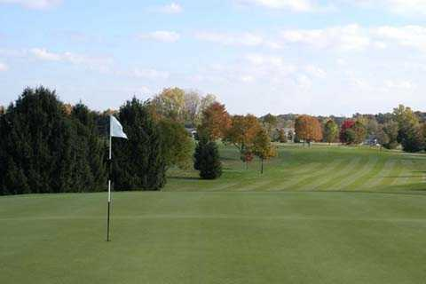 A view of the 6th hole at Plymouth Country Club