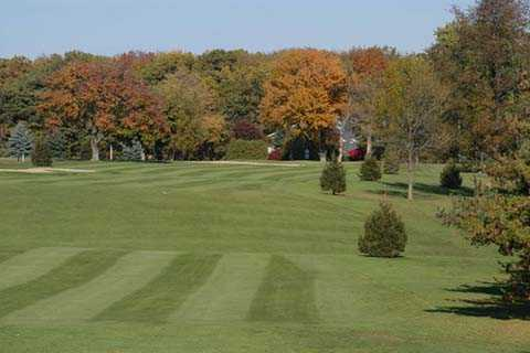 A view of the 1st fairway at Plymouth Country Club