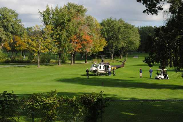 A fall view from Wicker Memorial Park Golf Course