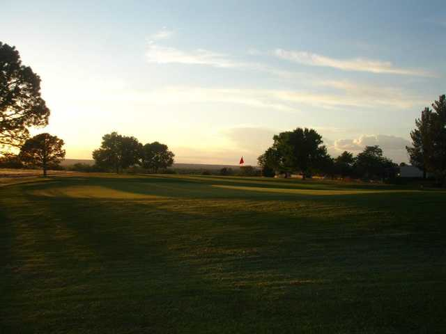 A view of a green at Tierra Del Sol Golf Course