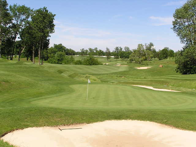 A view of the 11th green at Bear Slide Golf Club