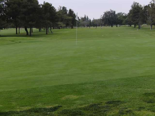 A view of the 11th green at Classic Course from Mile Square Golf Course