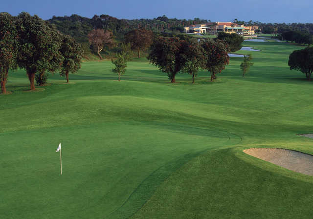 A view of the difficult par 3 17th hole at SeaCliff Country Club