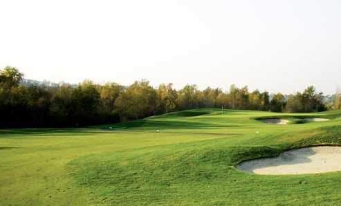 A view from the right side of a fairway at Strawberry Farms Golf Club