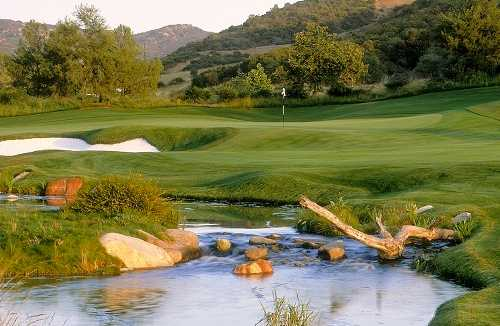 A view over the water from Shady Canyon Golf Club