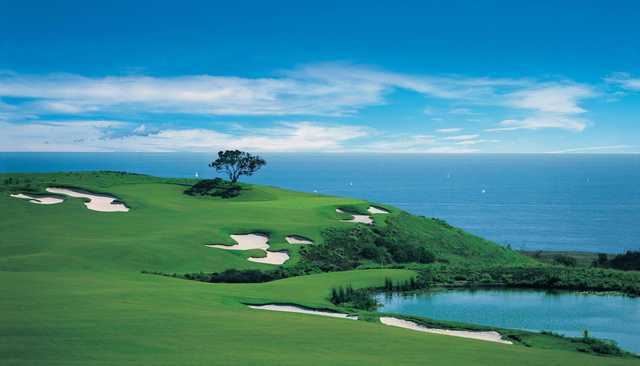 A view of fairway #17 at Ocean North from Pelican Hill Golf Club.