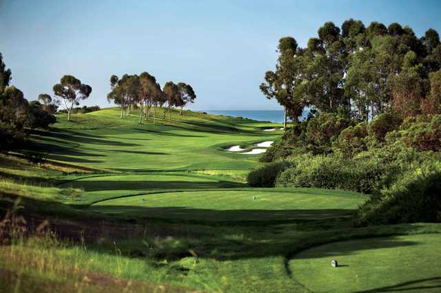 A view from a tee at Ocean North from Pelican Hill Golf Club