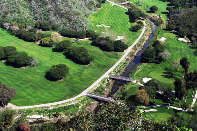 Aerial view from Ben Brown's Golf Course at The Ranch Laguna Beach