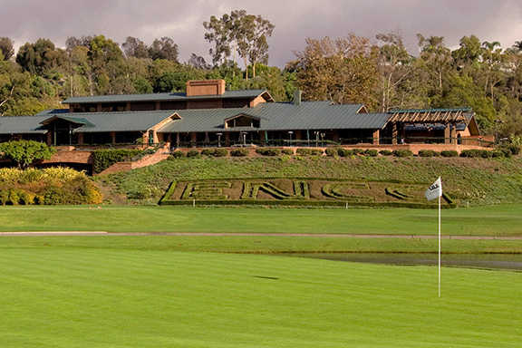 A view of a green at El Niguel Country Club