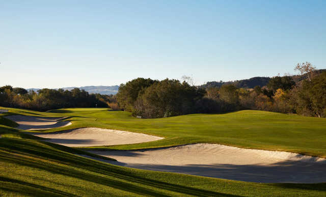 A view of a fairway at Coto de Caza Golf & Racquet Club