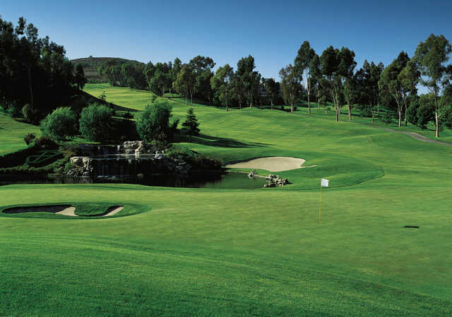A view of the 18th green at Marbella Country Club