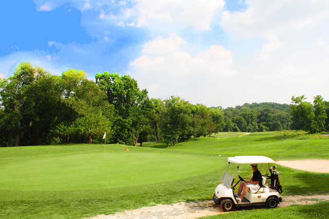 A view of a green at Rock Creek Golf Course