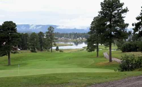 A view of a hole from Pinon at Pagosa Springs Golf Club