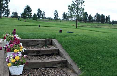 A view of a tee from Pinon at Pagosa Springs Golf Club