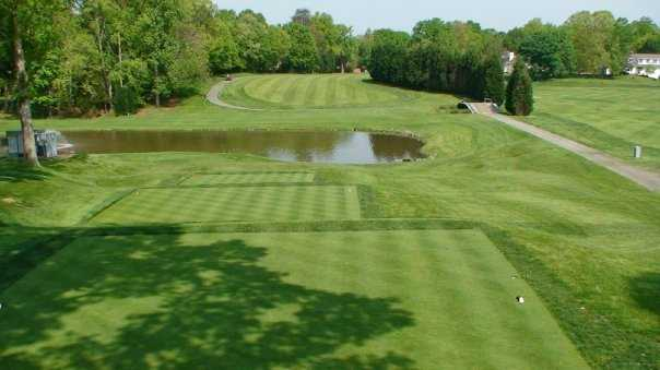A view from a tee from National Golf Club at Tantallon