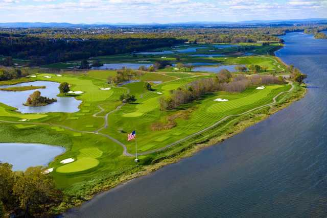 Aerial view from Riverview Course at Trump National Golf Club - Washington D.C.