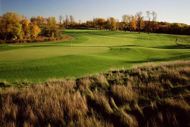 A view of a green at Blue Mash Golf Course