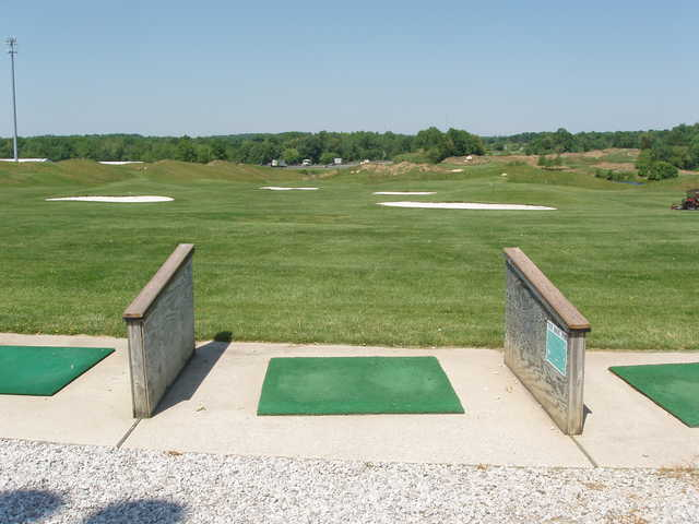 A view from the driving range tees at Willow Springs Golf Course