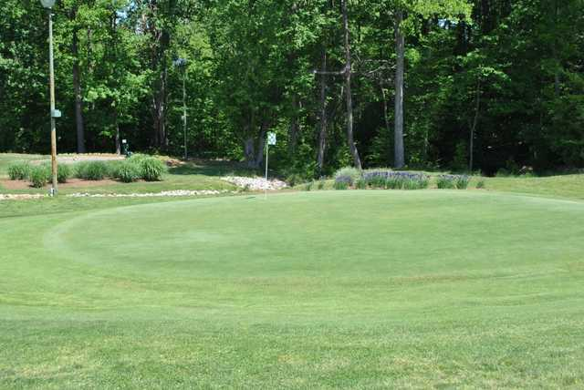 A view of a hole at Severna Park Golf Center