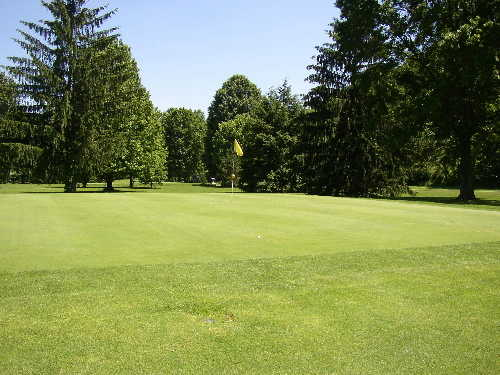 A view of the 12th green at Riverside Golf Course