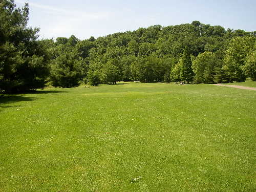 A view from the 3rd fairway at Riverside Golf Course