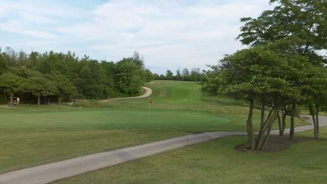 A view of the 18th green at St. Clair Parkway Golf Course
